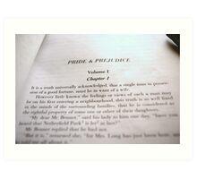 Pride & Prejudice Art Print
