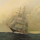 'Before the Storm'!, Tall Ship. Oil on Canvas.  by Rita Blom