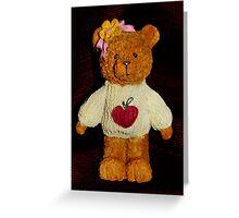 Heart Shirt Teddy Bear Greeting Card