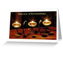 Three Candles in Watercolour Greeting Card