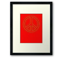 Peace Sign Symbol Abstract 2 Framed Print