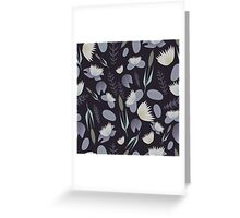 Lake plants pattern illustration Greeting Card