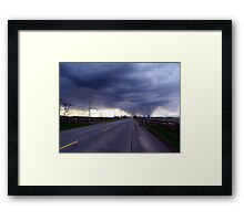Darkness and Light Framed Print