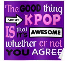 GOOD THING ABOUT KPOP - PURPLE Poster