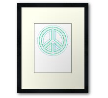 Peace Sign Symbol Abstract 1 Framed Print