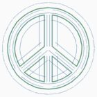 Peace Sign Symbol Abstract 1 by popculture