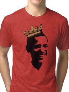 OBAMA CROWN**BLK & GOLD  Tri-blend T-Shirt