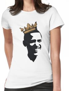 OBAMA CROWN**BLK & GOLD  Womens Fitted T-Shirt