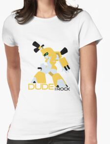Dude I Rock (medabots) Womens Fitted T-Shirt