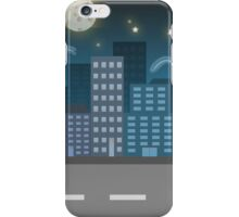 night city blue location illustration iPhone Case/Skin