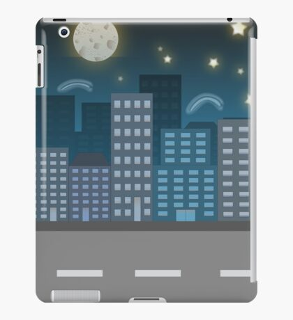 night city blue location illustration iPad Case/Skin