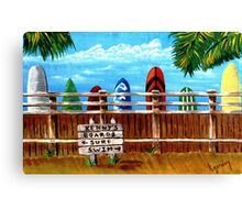 KENNY'S BOARDS Canvas Print