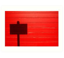 Street Sign Shadow, San Juan, Puerto Rico Art Print
