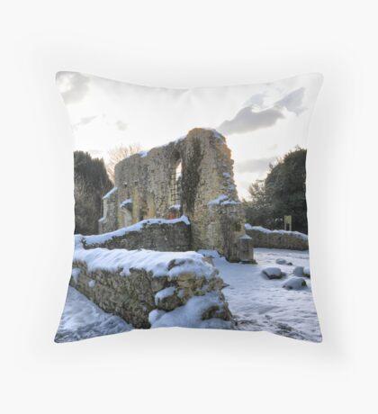 St Marys Church - Little Chart, Kent, UK Throw Pillow