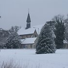 Snow Scene Church by Amie Swannell