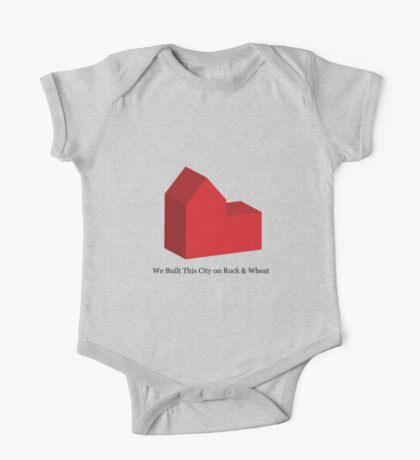 We Built This City on Rock & Wheat One Piece - Short Sleeve