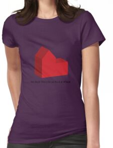 We Built This City on Rock & Wheat Womens Fitted T-Shirt