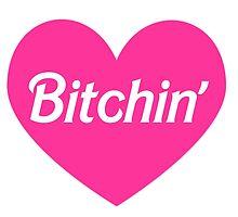Bitchin' Barbie Pink Heart Design by hellosailortees