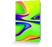 Abstract Multicolour Greeting Card