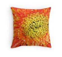 Fiery Orange Throw Pillow