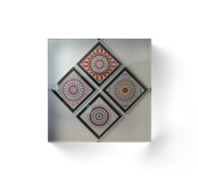 'Framed Kaleidoscope Images on Wall' Acrylic Block