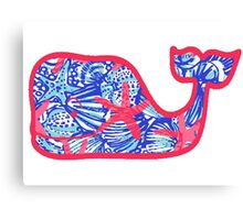 Lily Pulitzer She Shells Whale Canvas Print