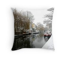 Regent Canal  Throw Pillow