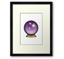 Crystal Ball Apple / WhatsApp Emoji Framed Print