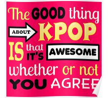 GOOD THING ABOUT KPOP - PINK Poster