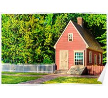 Little Pink Houses - Colonial Williamsburg Poster