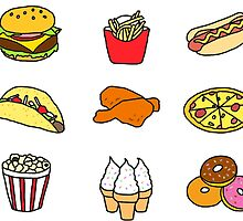 Food Stickers by foreversarahx