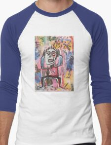 Untitled (Noise) Neo-Expressionism Men's Baseball ¾ T-Shirt