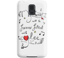My Heart will be Forever Filled with Glee Samsung Galaxy Case/Skin