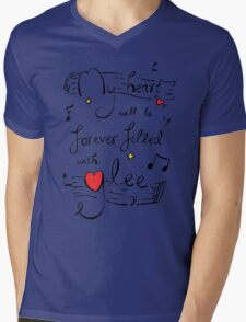My Heart will be Forever Filled with Glee Mens V-Neck T-Shirt