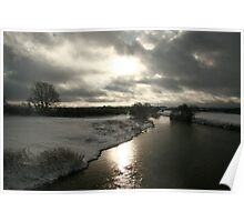 Moody Sky with Snow Poster