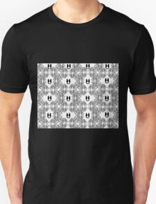 Abstract Black and White Sketch with Seahorses Unisex T-Shirt