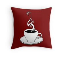 coffee scribble Throw Pillow