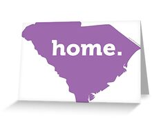 South Carolina HOME PURPLE Greeting Card