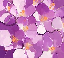 Spring Abstract-Crocus by leslie wood