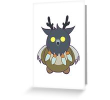 Worgen Boomkin With Purple Lines Greeting Card