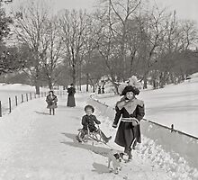 Winter in Central Park, 1900 by historyphoto