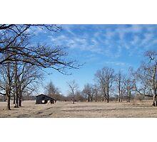 Little Barn Blue Sky Photographic Print