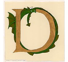 "Oscar & the Roses ""D"" (Illuminated Alphabet Sold) Photographic Print"