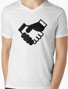 Shake hands Mens V-Neck T-Shirt