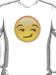 Smirking Face Apple / WhatsApp Emoji T-Shirt
