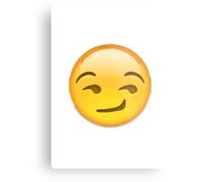 Smirking Face Apple / WhatsApp Emoji Metal Print
