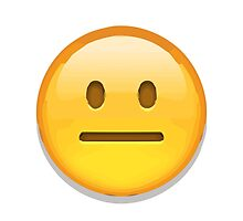 Neutral Face Apple / WhatsApp Emoji by emoji