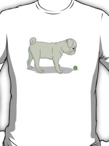 Light Pug and Ball T-Shirt