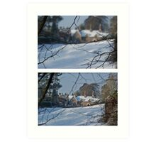 Snowscene Art Print