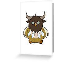Tauren Boomkin Dark Lines Greeting Card